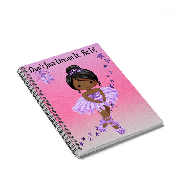 Ballerina Spiral Notebook - Ruled Line