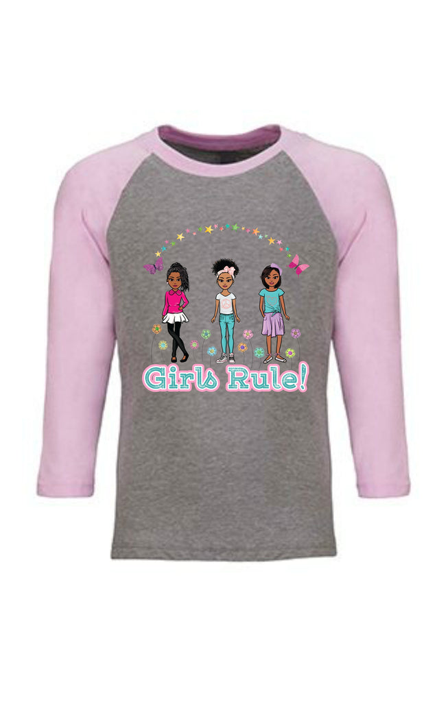African American Girls Rule Graphic Tshirt