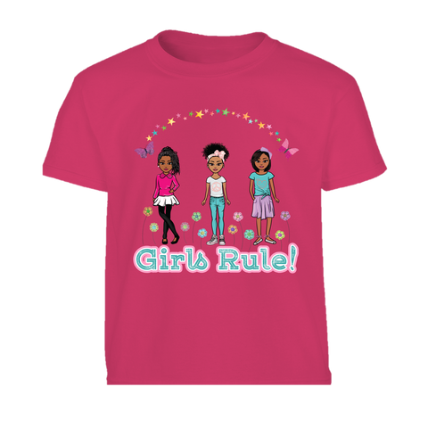 African American Girls Rule! Graphic Tshirt