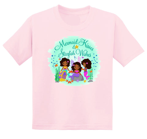African American Mermaid Graphic Tshirt