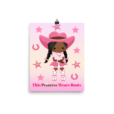 African American Cowgirl Poster