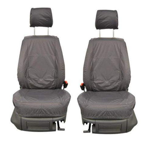 Fiat Doblo Fully Tailored Waterproof Front Single Set Seat Covers 2000 - 2009 Heavy Duty Right Hand Drive Grey