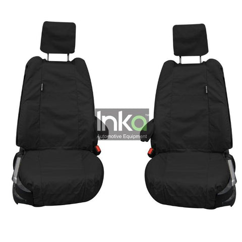 Land Rover Range Rover Fully Tailored Waterproof Front Single Set Seat Covers 2002-2012 Heavy Duty Right Hand Drive Black- INK-WSC-8016