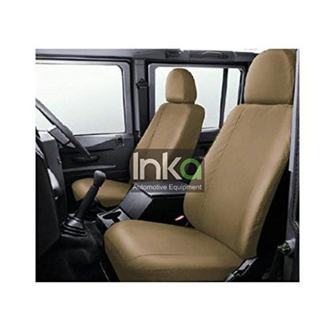 Inka Land Rover Defender 90 110 130 Beige Waterproof Tailored Front Seat Covers INK-WSC-8108