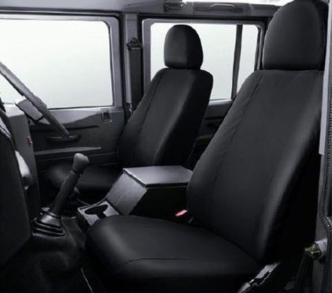 Land Rover Defender Crew Cab Fully Tailored Waterproof Rear 2005-2013 Heavy Duty Right Hand Drive Black