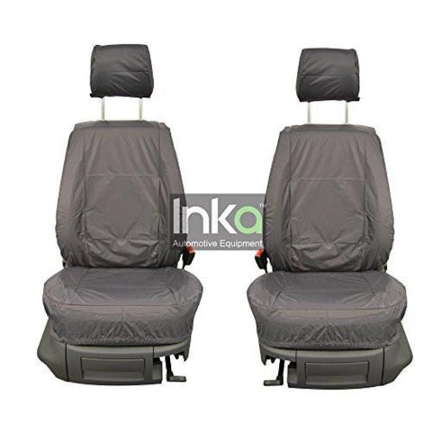 Vauxhall Combo Inka Fully Tailored Waterproof Front Single Set Seat Covers 2011 Onwards Heavy Duty Right Hand Drive Grey