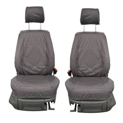 Vauxhall Corsavan Inka Fully Tailored Waterproof Front Set Seat Covers 2006-2014 Heavy Duty Right Hand Drive Grey
