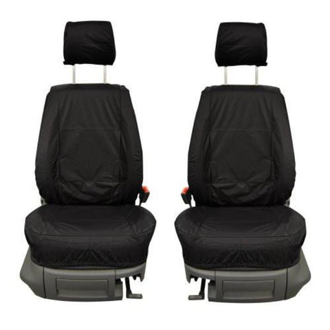 Nissan Micra Fully Tailored Waterproof Front Single and Rear Second Row Triple Set Seat Covers 2007-2010 Heavy Duty Right Hand Drive Black- INK-WSC-7057