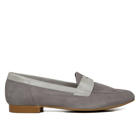 ANTIFAZ Slipper de piel GRIS - miMaO ShopOnline