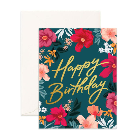 Fox & Fallow Happy Birthday Florentine Card