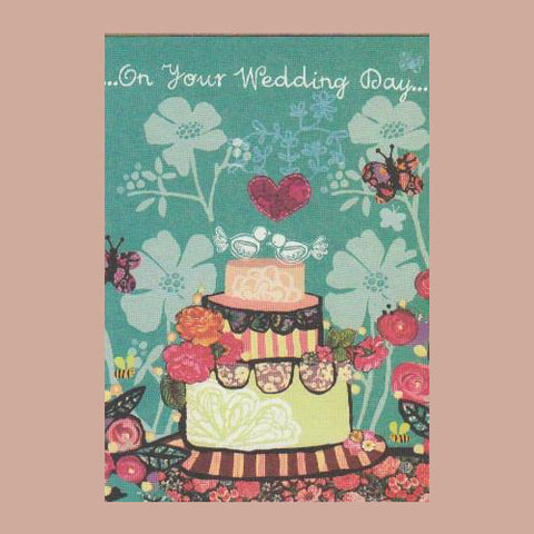 Blueberry Wedding Day Card