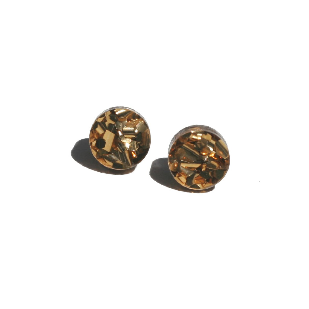 Martha Jean Bronze Mini Circle Stud Earrings
