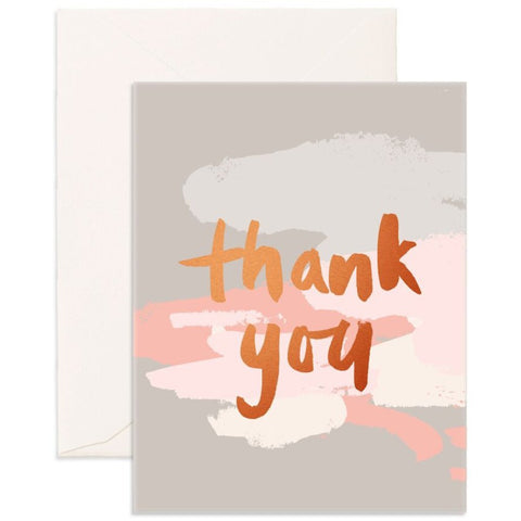 Fox & Fallow Thank You Clouds Card