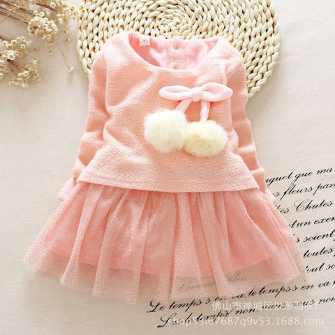Amber Pink Baby Girls  Dress