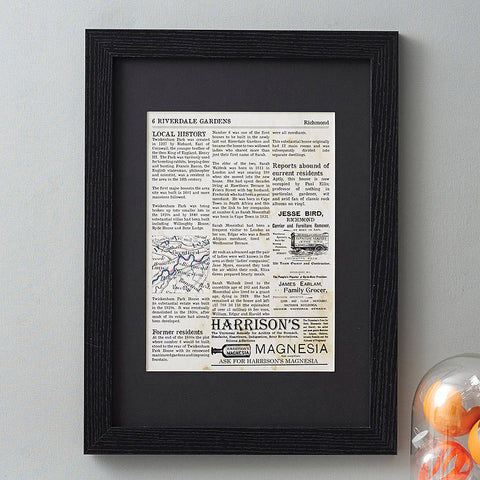 Personalised Home History Print - Afewhometruths