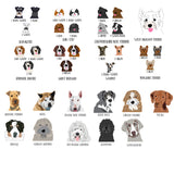 Custom Pet Portrait Dog Wall Print inc. Contemporary Wall Hanger - Multi Choice - Afewhometruths