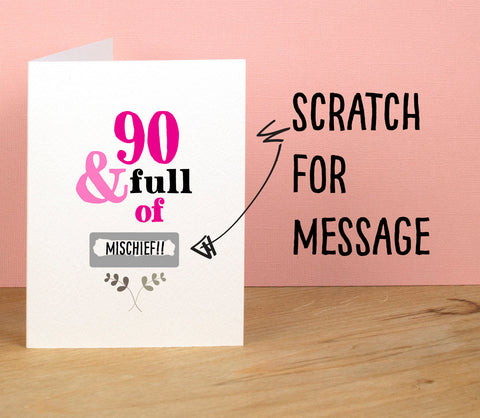 90th Birthday Card - Afewhometruths