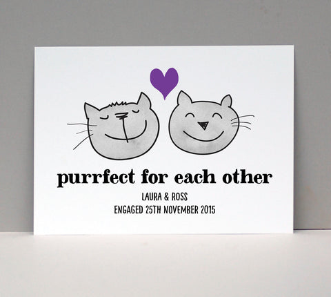 Purfect Cats Love Card or Print - Afewhometruths
