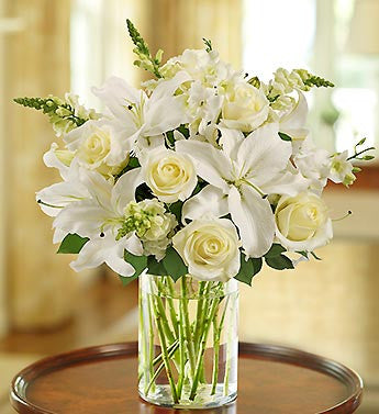 Classic All White Arrangement Great for Any Occasion!