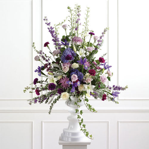 Purple Pedestal Arrangement