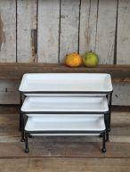 3 Tier White Tray Set