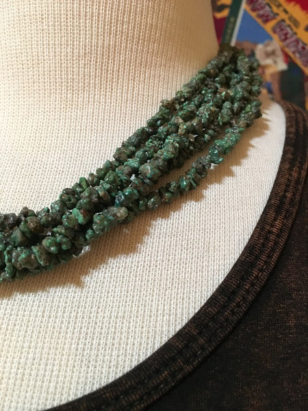 Two Grey Hills Native American Handcrafted Five Strand Necklace