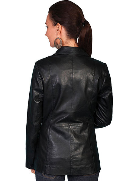 Scully Womens Classic Tailored Leather Blazer, front view