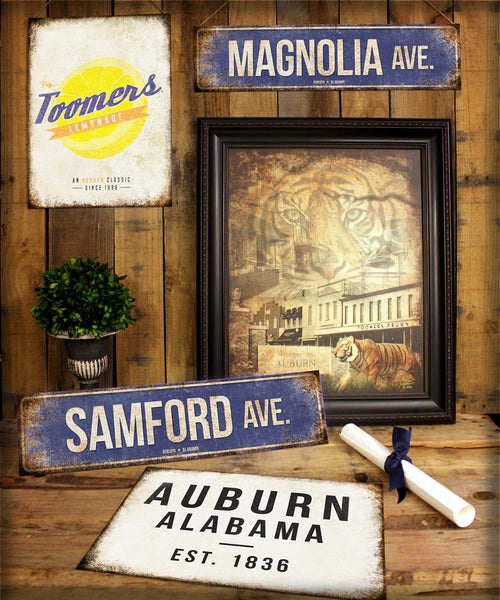 "Paul W Bryant Dr.  // Tuscaloosa, Alabama  // 1 Aluminum Sign // Indoor or Outdoor // 5.5"" x 22"""
