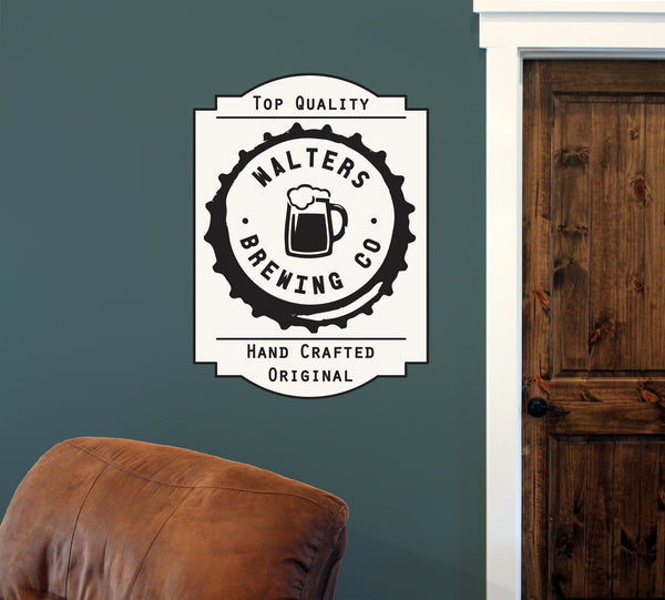 "Custom Brewing Co. // 24"" x 32"" // Die Cut Wall Decal"