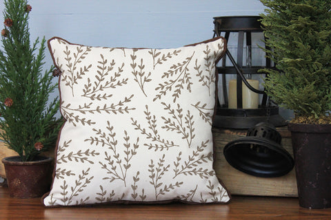 "Leaf Pattern // 16""x16"" // Accent Pillow with Insert"