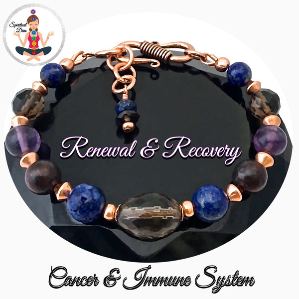 Cancer Immune System Recovery Healing Crystal Copper Reiki S Bracelet - Spiritual Diva Jewelry