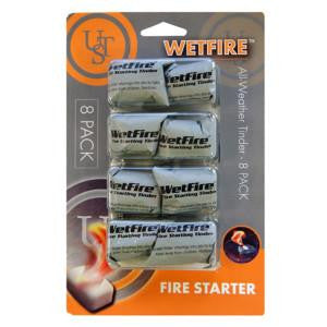 UST WetFire Fire Starting Tinders 8-Pack.  TSE # 16903.