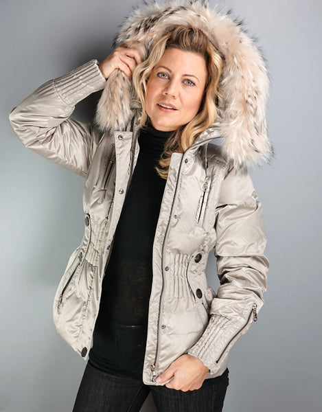 Belted Sporty Jacket- Champagne