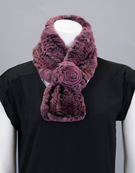 Stretch Rosette Scarf-Sugar Plum