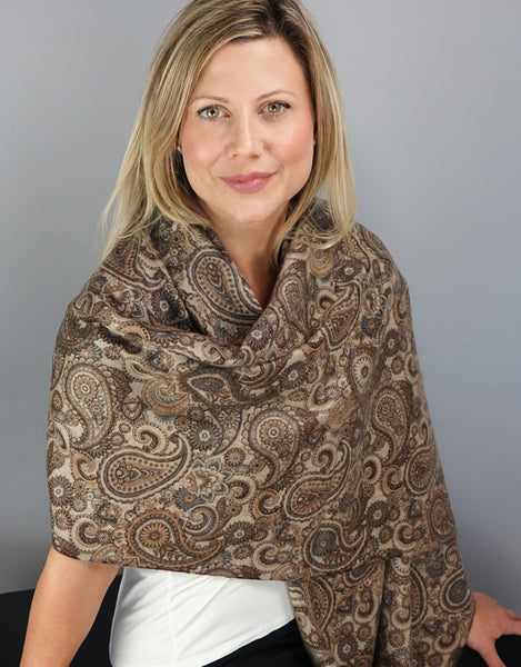 Cashmere Shawl-Walnut