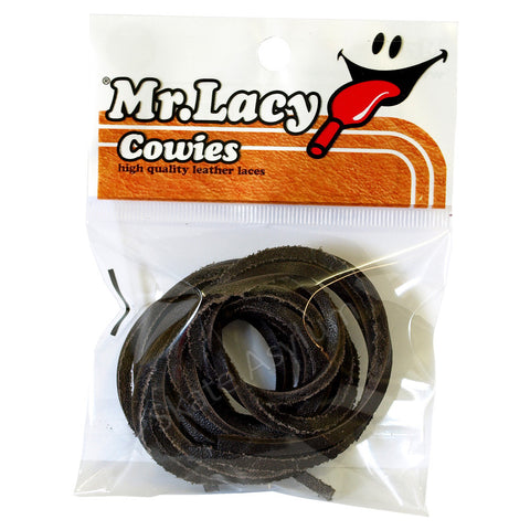 Mr Lacy Cowies Shoe Laces Dark Brown