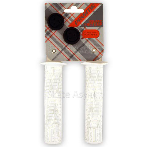 Pryme Square Knot Grips 143mm White