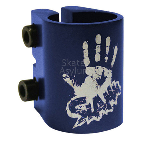Slamm Double Scooter Clamp Anodised Blue