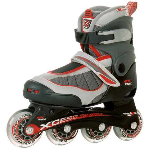 Xcess MX S1000 Kids Adjustable Skates - Red