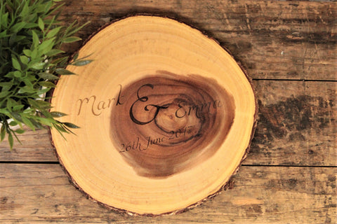 Happy Couple Personalised Engraved Chopping Board