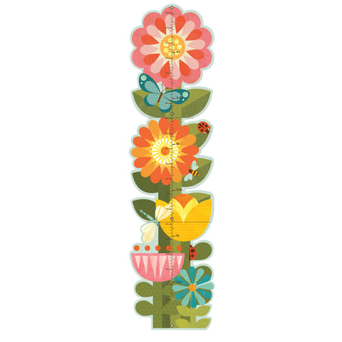 petit collage garden flowers growth chart