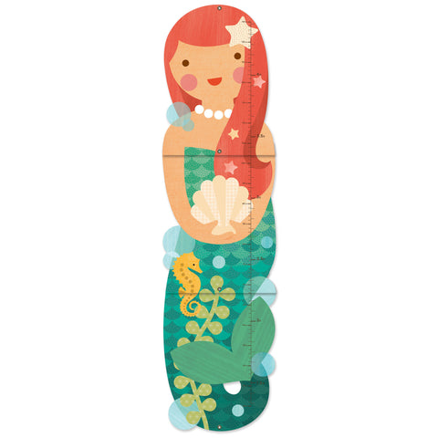 petit collage little miss mermaid growth chart