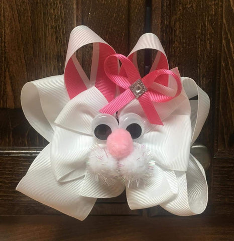 "Bunny Bow  - 6"" - Hairbow Heaven of Bossier City"
