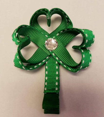 Clover - St. Patricks Day Hair Clip - Hairbow Heaven of Bossier City