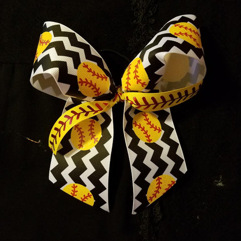 Cheer Bow Softball - Hairbow Heaven of Bossier City