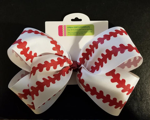 Baseball Bow - Hairbow Heaven of Bossier City