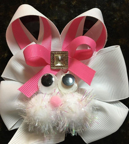 "Bunny Bow  - 4"" - Hairbow Heaven of Bossier City"