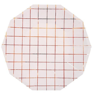 Rose Gold Grid Plates