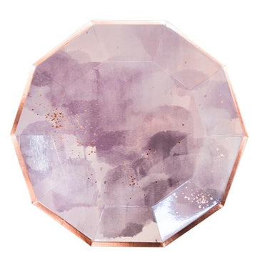 Purple Watercolor Plates