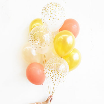 Champagne Gold Confetti Balloon Bundle